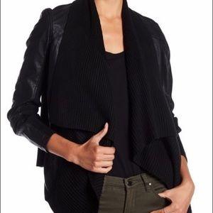 Blank NYC Faux Leather Drape Jacket